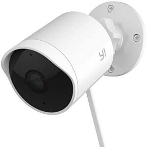 YI Outdoor Security Camera Wireless IP Waterproof Night Vision Security Surveillance Camera - White